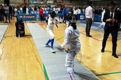 fencing foto de archivo