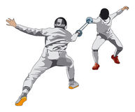 Fencing vector illustration