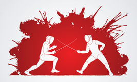 fencing stock illustratie