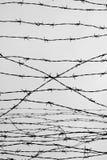 fencing Cerca con alambre de púas dejado cárcel Espinas bloque Un preso Campo de concentración del holocausto presos imagen de archivo