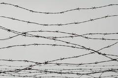 fencing Cerca con alambre de púas dejado cárcel Espinas bloque Un preso Campo de concentración del holocausto presos Backgr depre fotografía de archivo