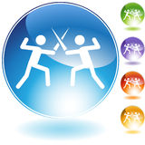 Fencing Crystal Icon Stock Images