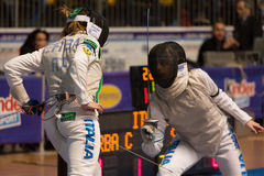 Fencing Cup Torino 2013 Stock Images