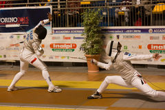 Fencing Cup Torino 2013 Royalty Free Stock Photography