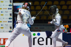 Fencing Cup Torino 2013 Royalty Free Stock Images