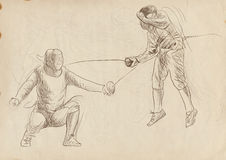 Fencing duel Royalty Free Stock Photography