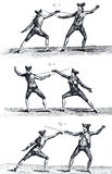 fencing of the eighteenth century. I Royalty Free Stock Photo