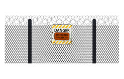 Fencing element from a barbed wire Royalty Free Stock Photo