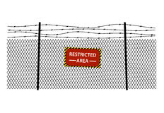 Fencing element from a barbed wire Stock Photography