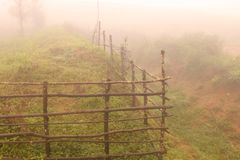 Fencing enhanced by rain. Pictures of unseen Landscapes and Nature marvels nPhotographer from Belgaum, India Stock Photos