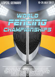 Fencing event poster Royalty Free Stock Photography