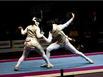 Fencing. grand-prix F.I.E. Fleuret St.Petersburg Royalty Free Stock Photos