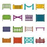Fencing icons doodle set Royalty Free Stock Photos