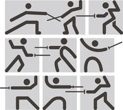 Fencing icons Stock Photo