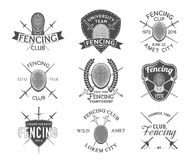 Fencing icons vector set. Royalty Free Stock Images