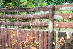 Fencing . Imitation wood . Royalty Free Stock Images