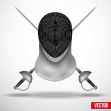 Fencing mask vector background illustration Royalty Free Stock Image