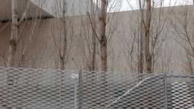 Fencing MAXXI. Rome, Italy stock footage