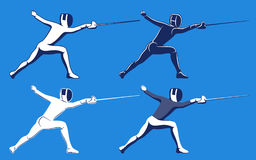 Fencing men collection. Men's sabre. Royalty Free Stock Photography
