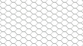 Fencing mesh on white background, texture Stock Photos