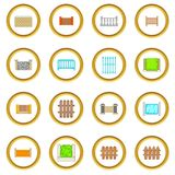 Fencing modules icons circle Stock Photography