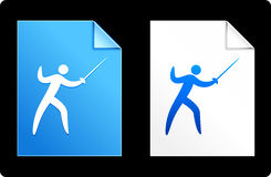 Fencing on Paper Set Royalty Free Stock Photo