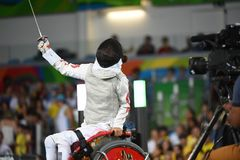 Fencing in  Paralympic games 2016 Stock Image