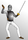 Fencing  player Royalty Free Stock Images