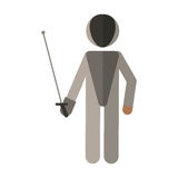 Fencing player sport athlete Stock Photo