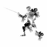 Fencing Player for Sports concept. Stock Image