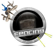 Fencing Sport - Metal Symbol Stock Image