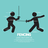 Fencing Sport Sign Royalty Free Stock Image