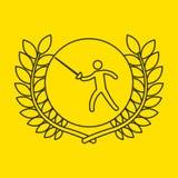 Fencing sportsman flag background design Stock Photography