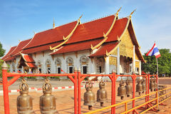 Fencing of the temple with bronze bells Royalty Free Stock Photography
