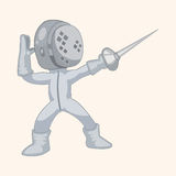 Fencing theme elements Stock Photos