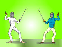 Fencing  tournament Stock Images