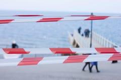 Fencing, warning tape Royalty Free Stock Image