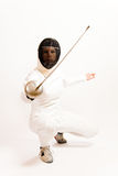 Fencing Woman Stock Photography