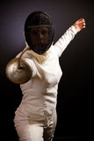 Fencing Woman Stock Photos
