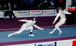 Fencing. World cup 2010. Stock Photos