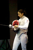 Fencing. World cup 2010. Aida Shanaeva Stock Images