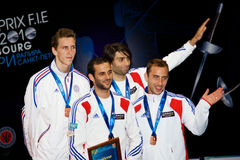Fencing. World cup 2010. Award ceremony Stock Photo