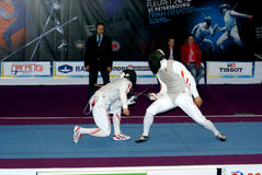 Fencing. World cup 2010. Saint-Petrsburg Stock Photo
