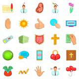 Fend icons set, cartoon style. Fend icons set. Cartoon set of 25 fend vector icons for web isolated on white background Stock Image