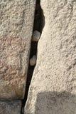 Fenda de pedra Imagem de Stock