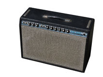 Fender Guitar Amp. Original Fender Guitar amp isolated on white Stock Image
