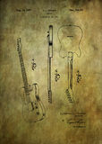 Fender guitar patent from 1951. Patent Art - Fine Art Photograph Based On Original Patent Artwork Researched Royalty Free Stock Image