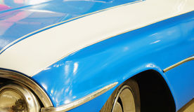 Fender and hood of old car. Front fender and hood of old car Stock Image