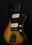 Fender Jazzmaster. Sunburst Fender Jazzmaster Guitar on stand looking upwards Stock Photos