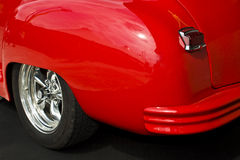 Fender of a red custom car Stock Image